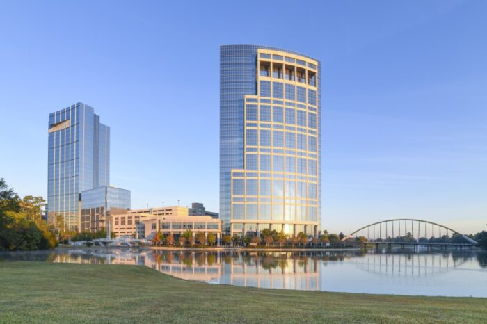 Landscape View of The Woodlands Texas